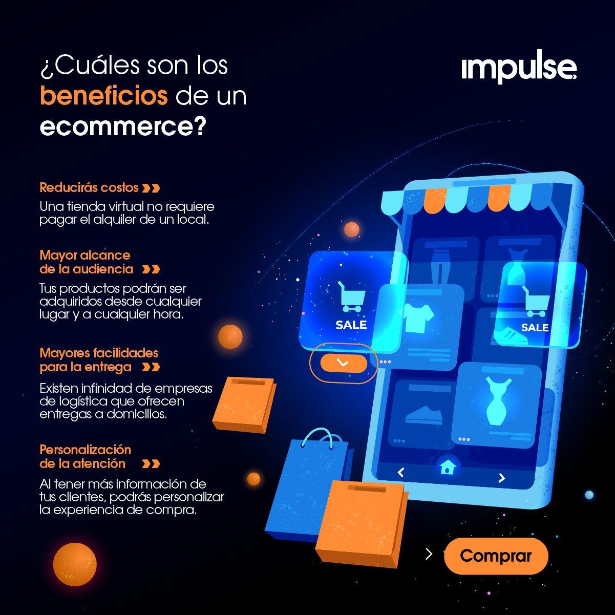 infografia cuales son los beneficios de un ecommerce