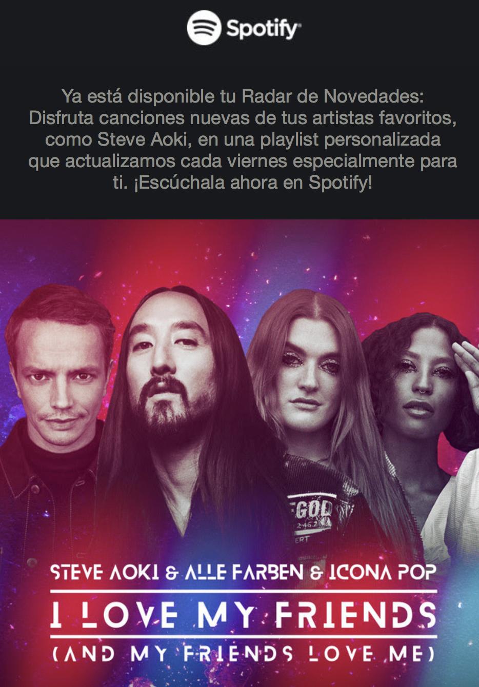 Spotify Ejemplos Inbound Marketing