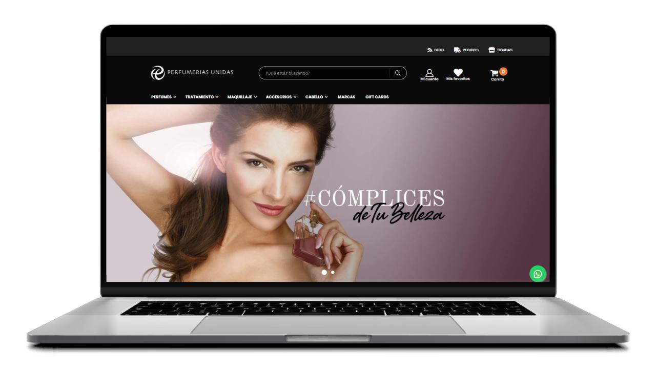 diseño de la pagina de inicio de un ecommerce visual merchandising