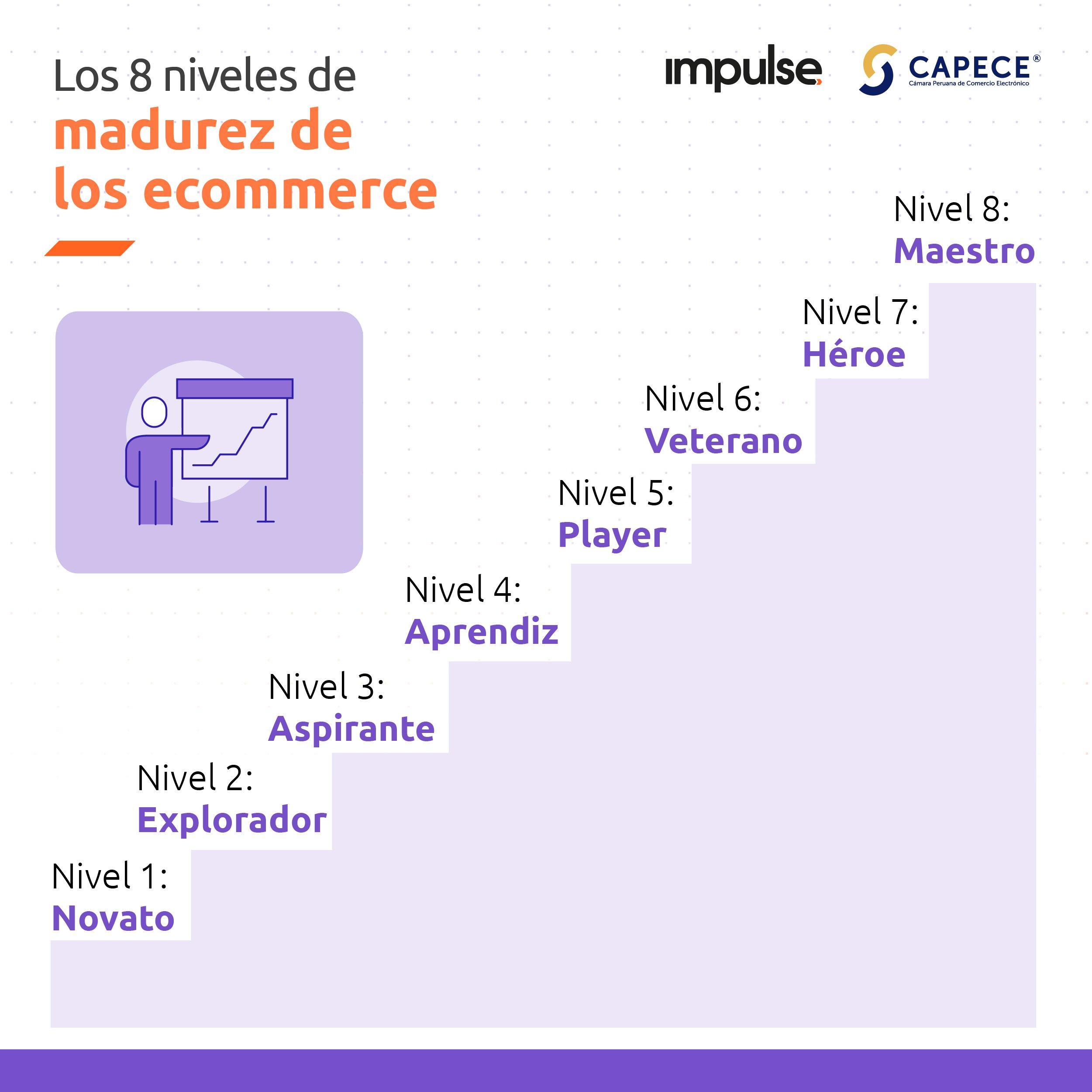 infografia niveles de madurez de los ecommerce