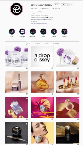 ejemplo cuenta instagram ecommerce